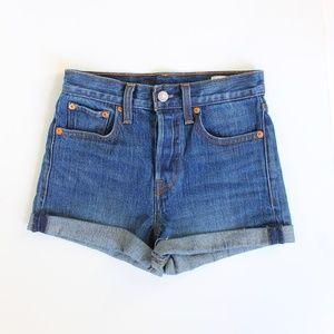 Levis White Oak Cone Denim 501 Cut Off Shorts